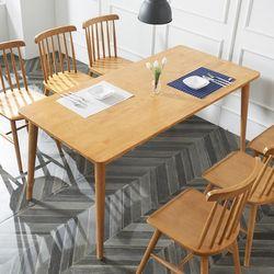 소이 고무나무원목 6인 식탁 (의자미포함)