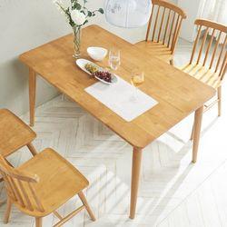 소이 고무나무원목 4인 식탁 (의자미포함)