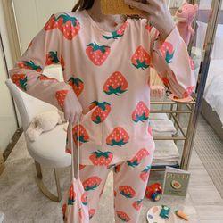 스타잇 포켓딸기 파자마 잠옷 세트(파우치 포함)
