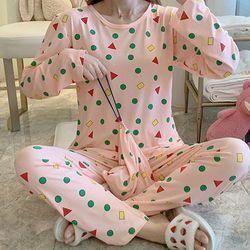 스타잇 하모니핑크 파자마 짱구 잠옷 세트(파우치 포함)
