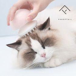 퓨리테일 고양이빗 젤리피쉬 그루밍 브러쉬-핑크