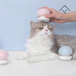 퓨리테일 고양이빗 젤리피쉬 그루밍 브러쉬-블루