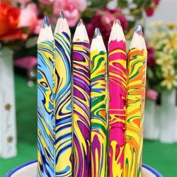 6p 마블링 색연필(17cm)