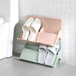 파스텔 간편 조립 욕실 현관 신발장 2개 1세트