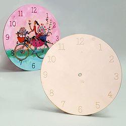 나무 시계판 22cm