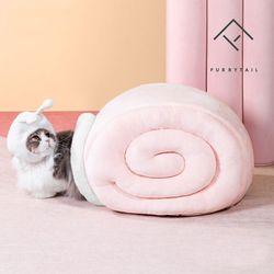 퓨리테일 고양이 달팽이터널 숨숨집 하우스-핑크