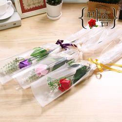 알사탕 한송이장미(핑크) 화이트데이 비누꽃다발 선물