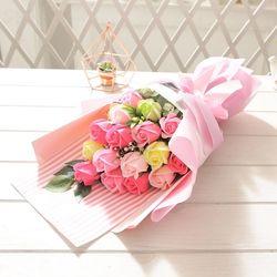 러블리로즈부케(핑크) 비누꽃 화이트데이 선물 꽃다발
