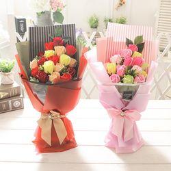 러블리로즈부케(레드) 비누꽃 화이트데이 선물 꽃다발