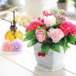 체리카네이션(핑크) 비누꽃 화이트데이 기념일 꽃배달