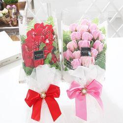 장미 15송이 꽃다발(레드) 화이트데이 비누꽃 선물