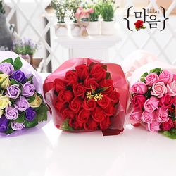 장미 20송이 꽃다발(레드) 비누꽃 화이트데이 선물
