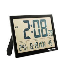 플라이토 F811 LCD 무소음 전자 탁상 벽시계 36cm