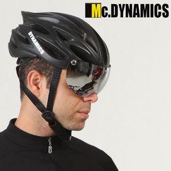 맥다이나믹스 미러쉴드 자전거헬멧+미러고글 BLACK