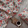 [Fabric] 레드 카멜리아 린넨 Red Camellia Linen
