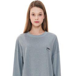 (CTC1) 피그먼트 로고 긴팔 티셔츠 블루