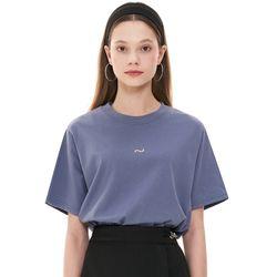 (CTC1) 웨이브 아이콘 자수 티셔츠 소라