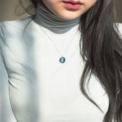 스민빛 손그림 목걸이