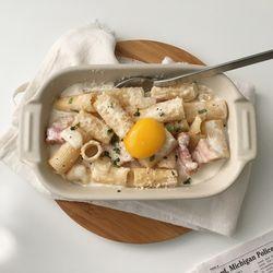 매트그라탕보울 파스타 오븐용그릇 (아이보리)