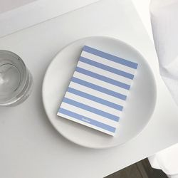 MEMO PAD - stripe blue