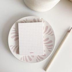 MEMO PAD - grid pink