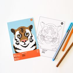 시베리아호랑이 멸종위기동물 컬러링 엽서 2in1