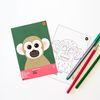 다람쥐원숭이 멸종위기동물 컬러링 엽서 2in1