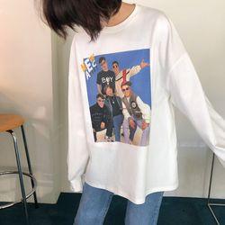 보이 프린팅 박스 티셔츠