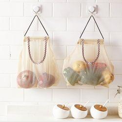 실속있는 양파 감자 보관망 비닐 보관함 2type 슬림형