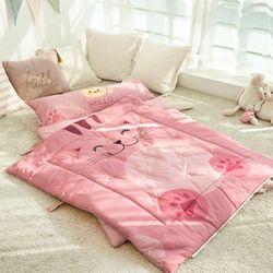 바이오안티 사계절 일체형 낮잠이불 토퍼형 핑키퐁키