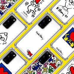 스키누 x  Keith Haring 투명케이스-갤럭시 S20