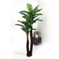 인테리어조화 인조나무 조화화분 2단 코코넛트리 160