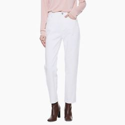 LW013 STRAIGHT COTTON PANTS IVORY