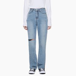 LW015 DAMAGE SLIT DENIM