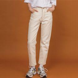 cozy stitched Cream jean