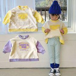 배색맨투맨 티셔츠 2컬러아동복주니어