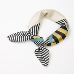 Line Square Scarf - New