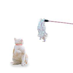 우쭈쭈 샤이닝 고양이 낚시대 (뽀글이) - s
