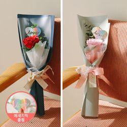 [LOVE픽]벨라 한송이 왕장미 유칼리 로즈 꽃다발