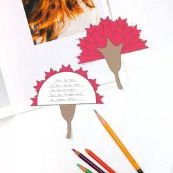 카네이션 브로치 엽서 만들기 패키지 DIY (30인)