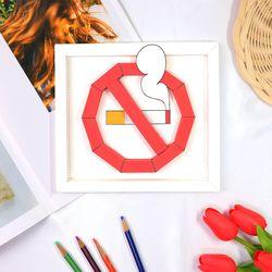 금연기호 일반형 액자 만들기 패키지 DIY (5인)