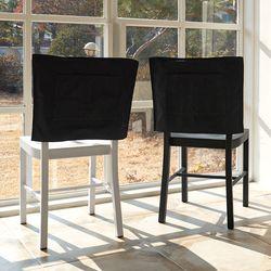 블랭크 블랙 광목 의자커버 . 식탁의자커버 (RM 274001)