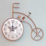 예쁜 엔틱 인테리어 Bicicleta 황동 벽시계CH1546045