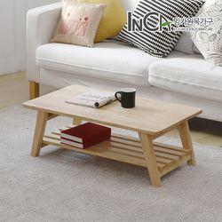 고무나무 원목 선반형 접이식 테이블 900