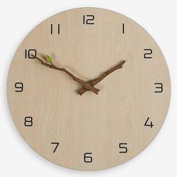 내츄럴함 그대로 자연을 닮은 내츄럴 무소음 나뭇가지벽시계