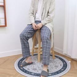 자체제작 남여 공용 잠옷 바지 빅체크 그레이 L 커플