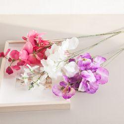 3대스위트피가지 75cm 조화 가지 꽃 장식 소품 FAIAFT