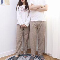 자체제작 남여 공용 잠옷 바지 세트 사각 ML 커플 파