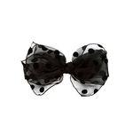 dot ribbon hairpin (black)
