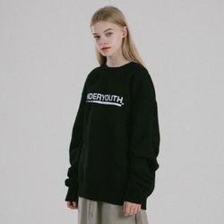 썸웨얼 아이 비롱 스탠다드 맨투맨 (블랙)